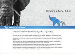 Blue Elephant - A New Residential Childcare Company with a Long Heritage.