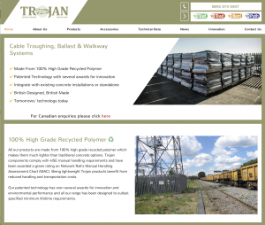 Trojan Services - Polymer Cable Troughing, Ballast & Walkway Systems